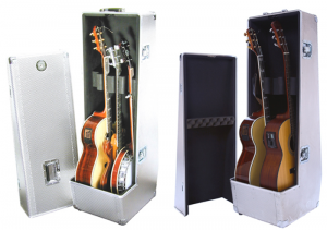 beedbf3508e The 2 in 1 acoustic guitar case allows you to never lose your backup.  Wheels on the case make it easy to bring it with you and you never have to  bring ...