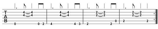 Beginner Guitar Song TAB, part 3
