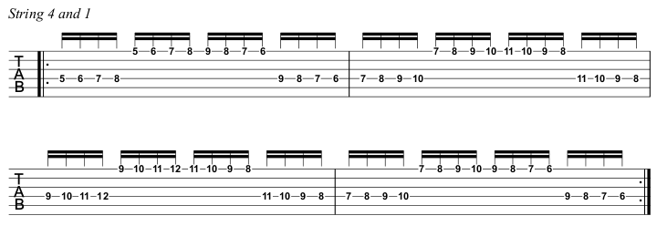 Beginner Course Week 8 Chromatic loop string pairs step 3 s 4 and 1