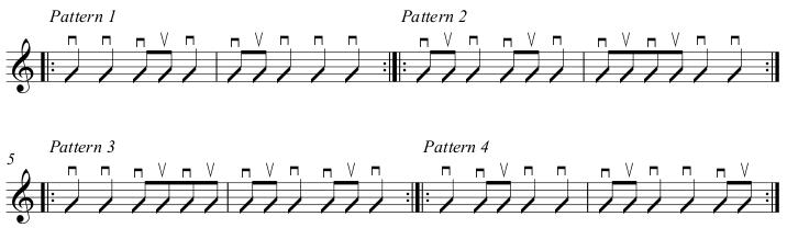 Beginner strumming patterns 1-4 Beginner Guitar Lesson 1