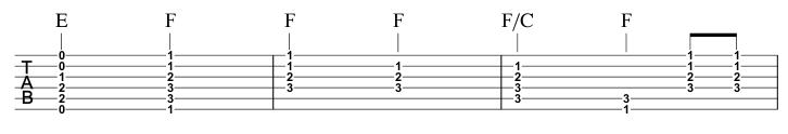 E becomes F