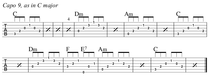 A Change Is Gonna Come 2nd Guitar part C