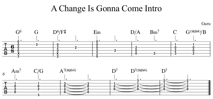 A Change Is Gonna Come Intro