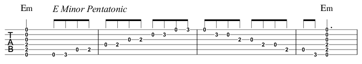 E Minor Pentatonic