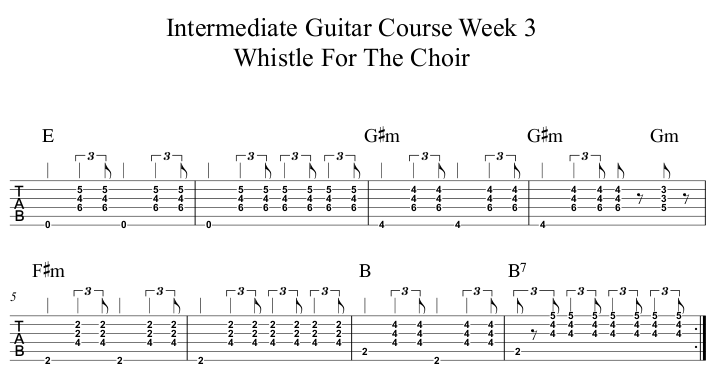 Intermediate Course Week 3 Whistle For The Choir