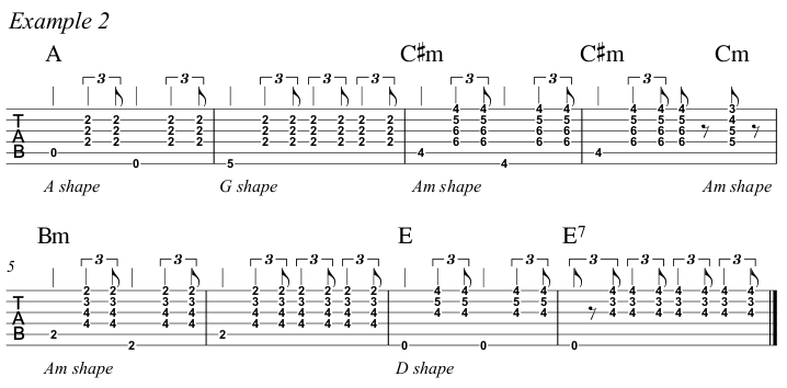 Intermediate Guitar Course Week 3 Whistle For The Choir - All Positions Ex 2 A