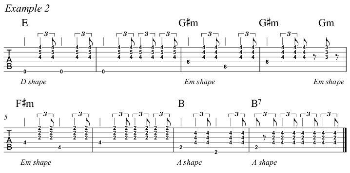 Intermediate Guitar Course Week 3 Whistle For The Choir - All Positions Ex 2