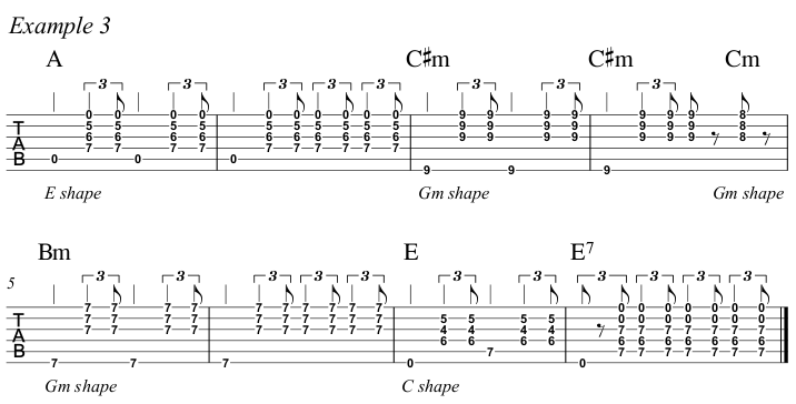 Intermediate Guitar Course Week 3 Whistle For The Choir - All Positions Ex 3 A
