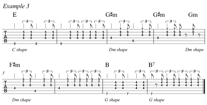 Intermediate Guitar Course Week 3 Whistle For The Choir - All Positions Ex 3