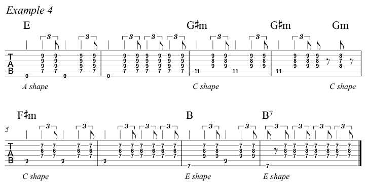 Intermediate Guitar Course Week 3 Whistle For The Choir - All Positions Ex 4