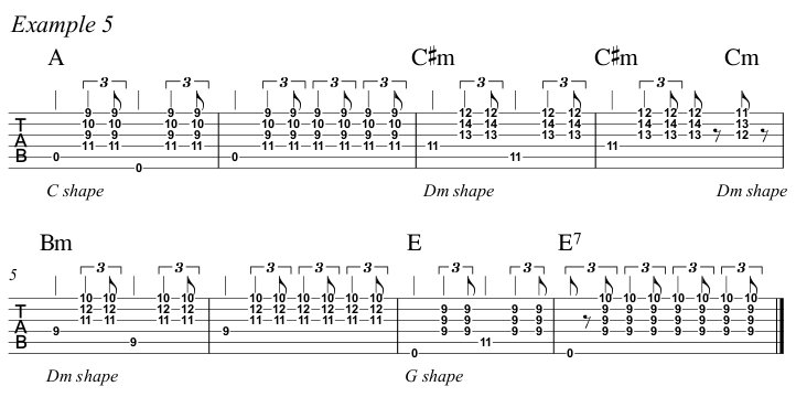 Intermediate Guitar Course Week 3 Whistle For The Choir - All Positions Ex 5 A