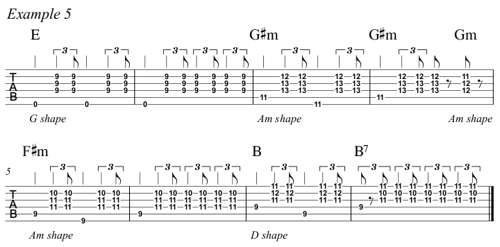 Intermediate Guitar Course Week 3 Whistle For The Choir - All Positions Ex 5