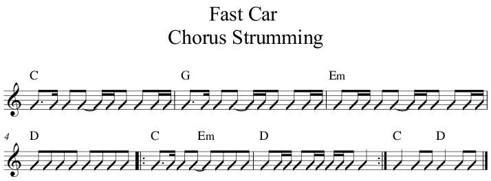 Fast Car Chorus Strumming